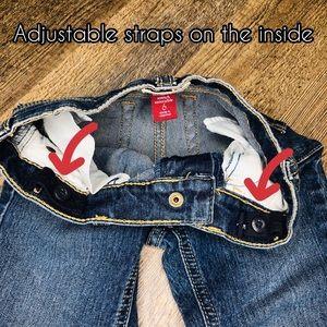 Children's Place Bottoms - Stretchy adjustable bootcut blue jeans- Kids